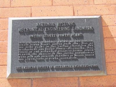 National Historic Mechanical Engineering Landmark image. Click for full size.