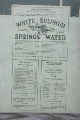 Price Sheet for White Sulphur Springs and Hotel. image. Click for full size.
