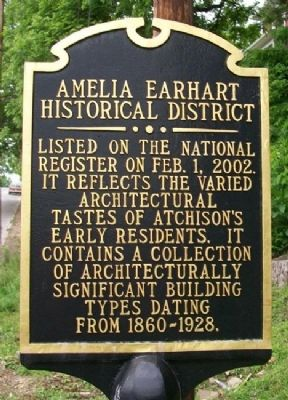 Amelia Earhart Historic District Marker image. Click for full size.