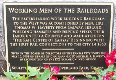 Working Men of the Railroads Marker image. Click for full size.