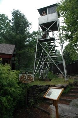 Fire Tower and Marker image. Click for full size.