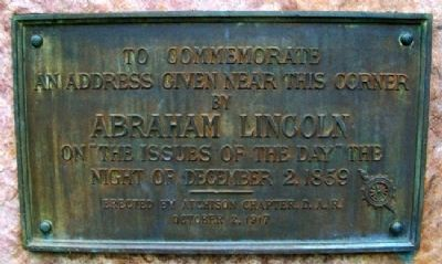 Lincoln Address Marker image. Click for full size.