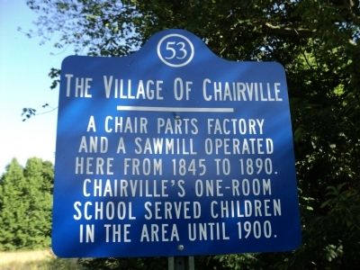 The Village of Chairville Marker image. Click for full size.