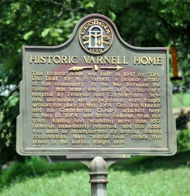 Historic Varnell Home Marker image. Click for full size.