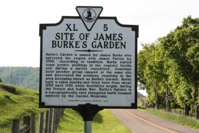 Site of James Burke's Garden Marker image. Click for full size.