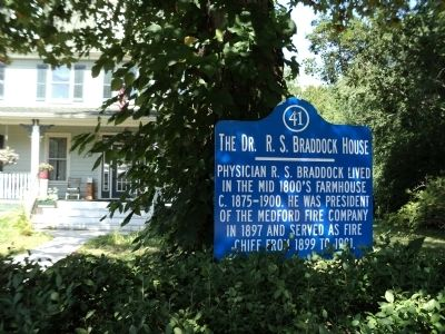 The Dr. R. S. Braddock House Marker image. Click for full size.