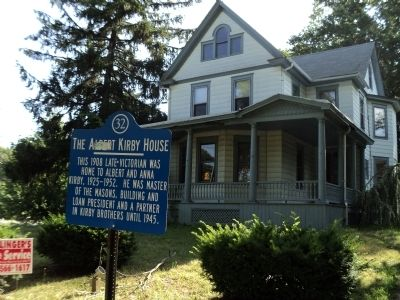 The Albert Kirby House Marker image. Click for full size.