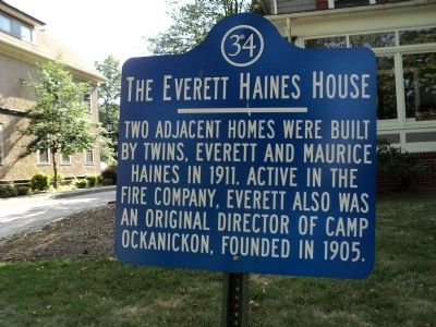 The Everett Haines House Marker image. Click for full size.