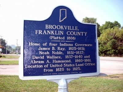 Brookville, Franklin County Marker image. Click for full size.