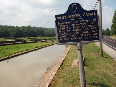Obverse Side - - Whitewater Canal Marker image. Click for full size.