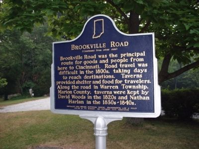 Side 'Two' - - Brookville Road Marker image. Click for full size.