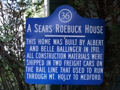 A Sears Roebuck House Marker image. Click for full size.