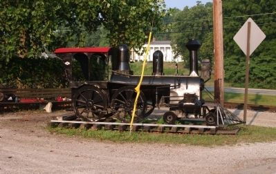 """Whitewater Valley Railroad"" - - 'Locomotive / Sign' image. Click for full size."