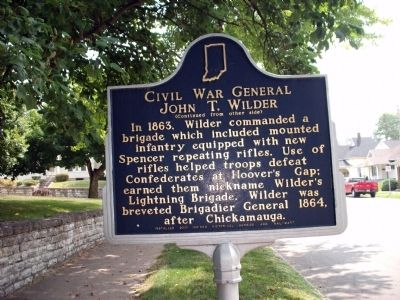 Side 'Two' - - Civil War General John T. Wilder Marker image. Click for full size.
