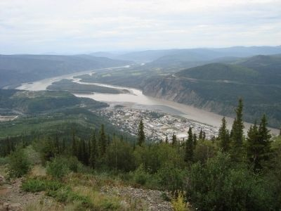 The confluence of the Yukon and Klondike Rivers. image. Click for full size.