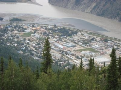 Dawson City from Midnight Dome. image. Click for full size.