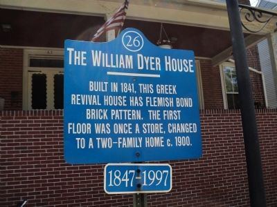 The William Dyer House Marker image. Click for full size.