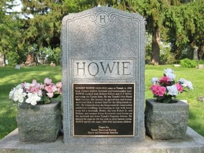 Robert Howie Marker image. Click for full size.