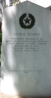 George Weedon Marker image. Click for full size.