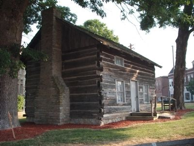 Other View - - Log Cabin - South/East Corner of Courthouse image. Click for full size.