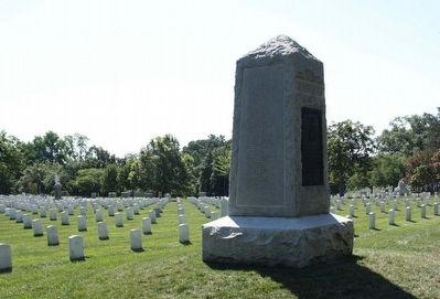 Rough Riders Marker, with north side showing names of KIA image. Click for full size.