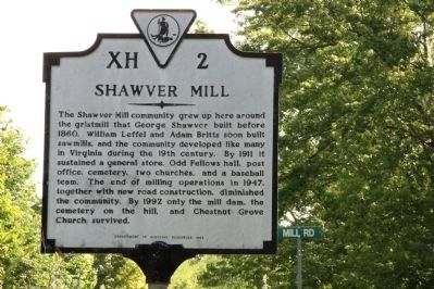 Shawver Mill Marker Photo, Click for full size