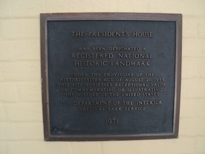 The President�s House Marker image. Click for full size.