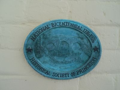 Princeton Landmark Plaque image. Click for full size.