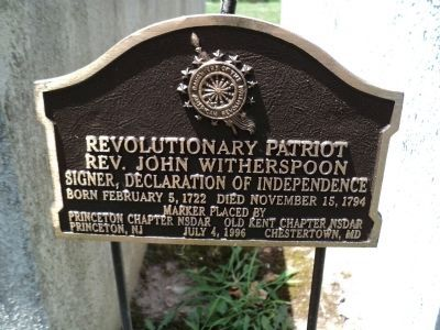 Rev. John Witherspoon Marker image. Click for full size.