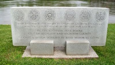 Atchison Veterans Memorial Marker image. Click for full size.