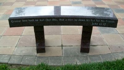 Atchison Veterans Memorial Bench image. Click for full size.