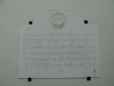 The First Presbyterian Church of Princeton Marker image. Click for full size.