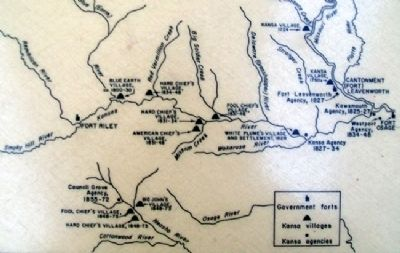 Map on Homeland of the Kanza Indians Marker image. Click for full size.
