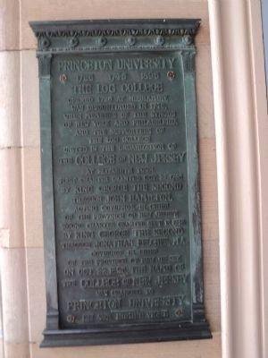 Princeton University Marker image. Click for full size.