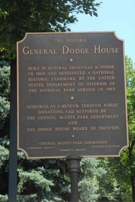 The Historic General Dodge House Marker image. Click for full size.