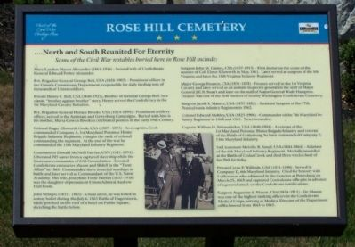 Rose Hill Cemetery Marker Photo, Click for full size