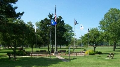 North Olmsted Veterans Plaza image. Click for full size.