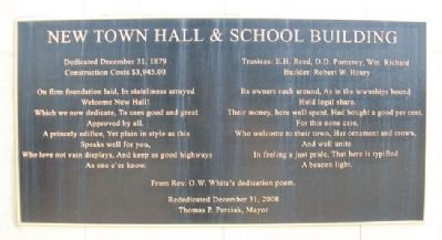 Town Hall and School Building Marker image. Click for full size.