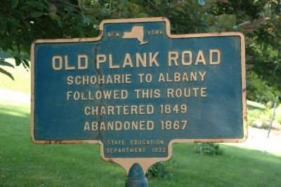 Old Plank Road Marker image. Click for full size.