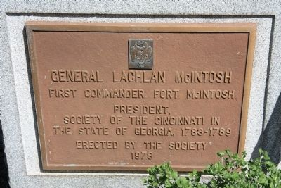 General Lachlan McIntosh Marker Photo, Click for full size