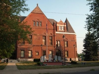 East Side - - Fayette County Courthouse - - Connersville, Indiana Photo, Click for full size