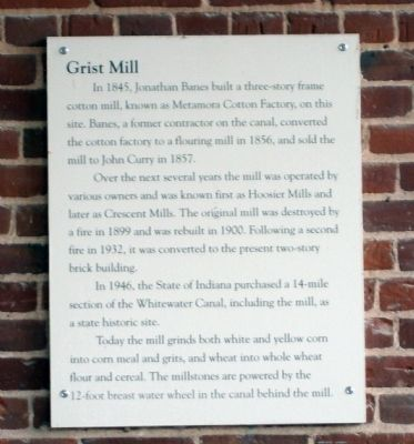 Metamora Grist Mill Marker image. Click for full size.
