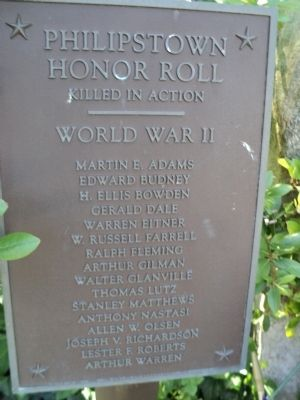 Philipstown Honor Roll Marker 1 image. Click for full size.