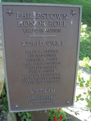 Philipstown Honor Roll Marker 2 image. Click for full size.