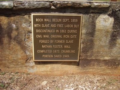 Holly Springs Rock Wall Marker image. Click for full size.