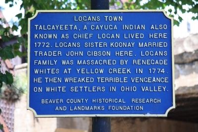 Logans Town Marker image. Click for full size.