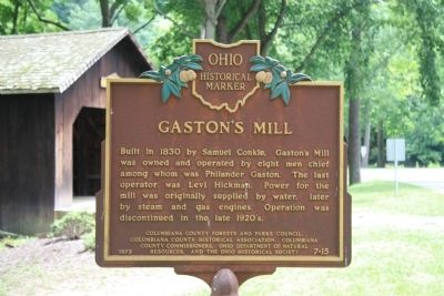 Gaston's Mill Marker image. Click for full size.