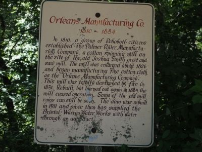 Orleans Manufacturing Co. Marker image. Click for full size.