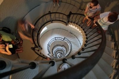 203 Steps Back Down From the Top of Ponce Inlet Lighthouse image. Click for full size.