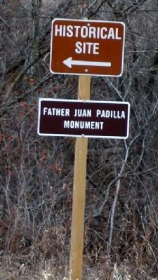 Padilla Monument Sign Photo, Click for full size